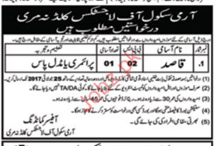 Army School Murree Jobs