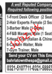 Front Desk Officers, Hair Experts Job Opportunity