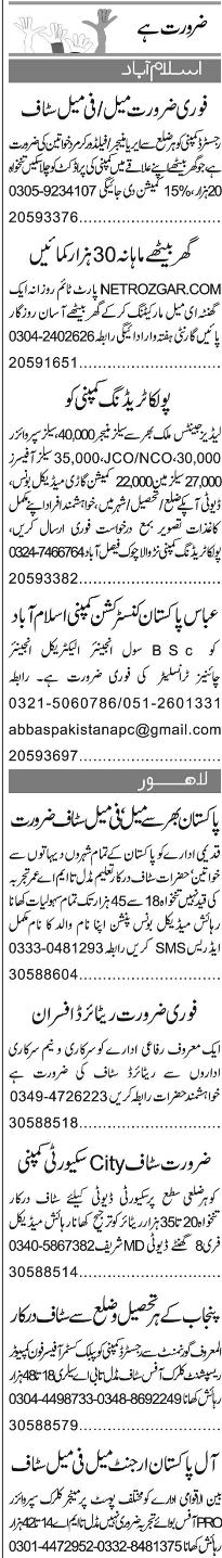 Field Workers, Area Managers, Sales Officers Job Opportunity