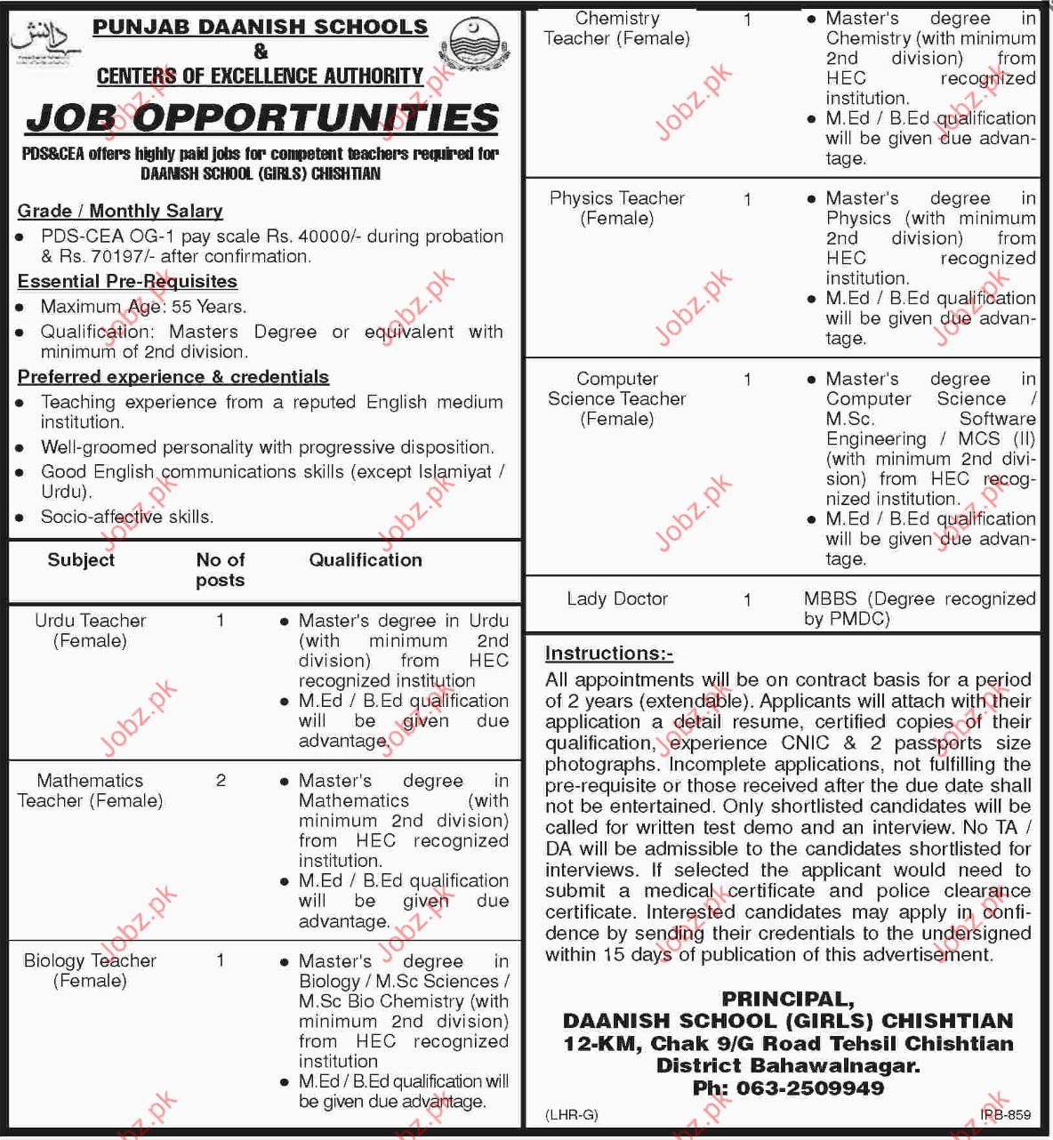 Punjab Danish School Job Opportunities