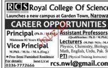 Principal, Vice Principal,  Assistant Professors Wanted