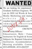 SEO and Army Retired Officers Job Opportunity