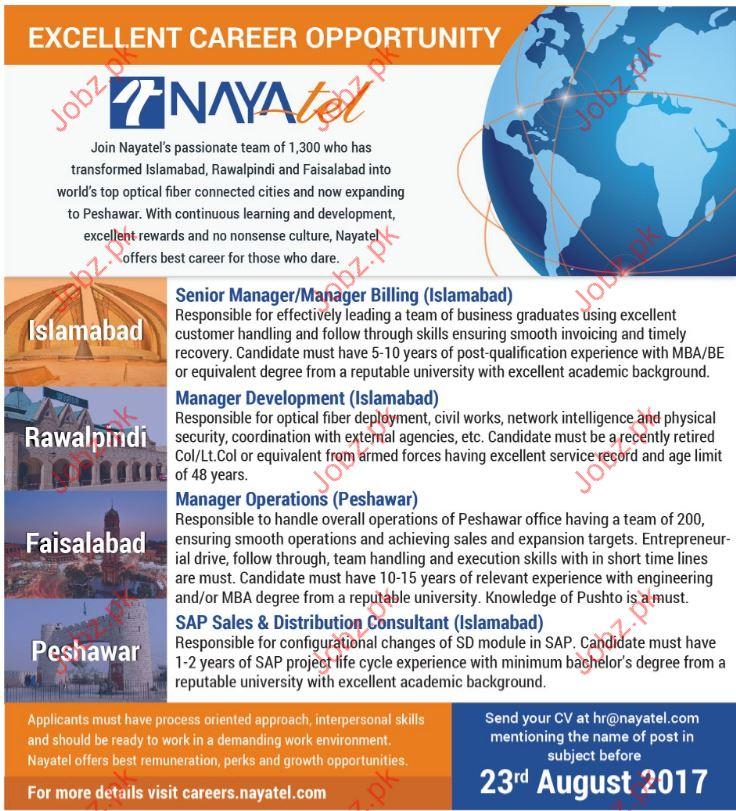 Nayatel Job Opportunity