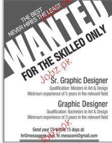 Senior Graphic Designers, Graphic Designers Job Opportunity