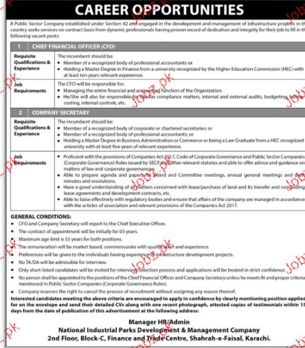 Company Secretary, Chief Executives Officers Job Opportunity