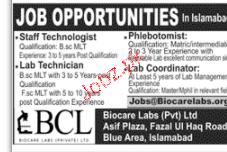Staff Technologists, Phlebotomists Job Opportunity