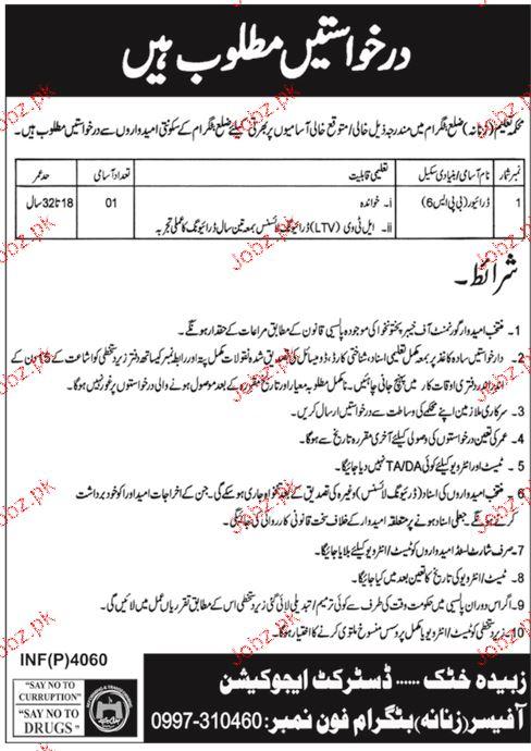 District Education Office Job