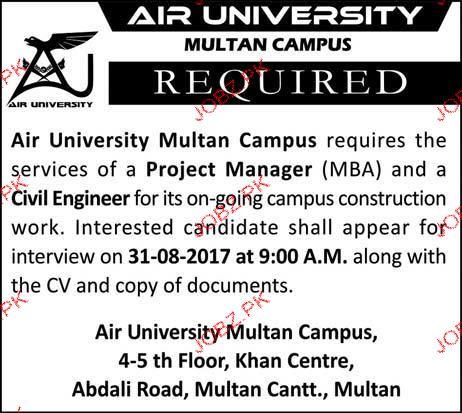 Air University Multan Campus Jobs