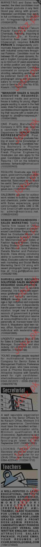 Marketing and Management Staff required