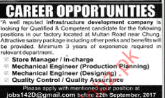 Store Manager Jobs In Infrastructure Development Company