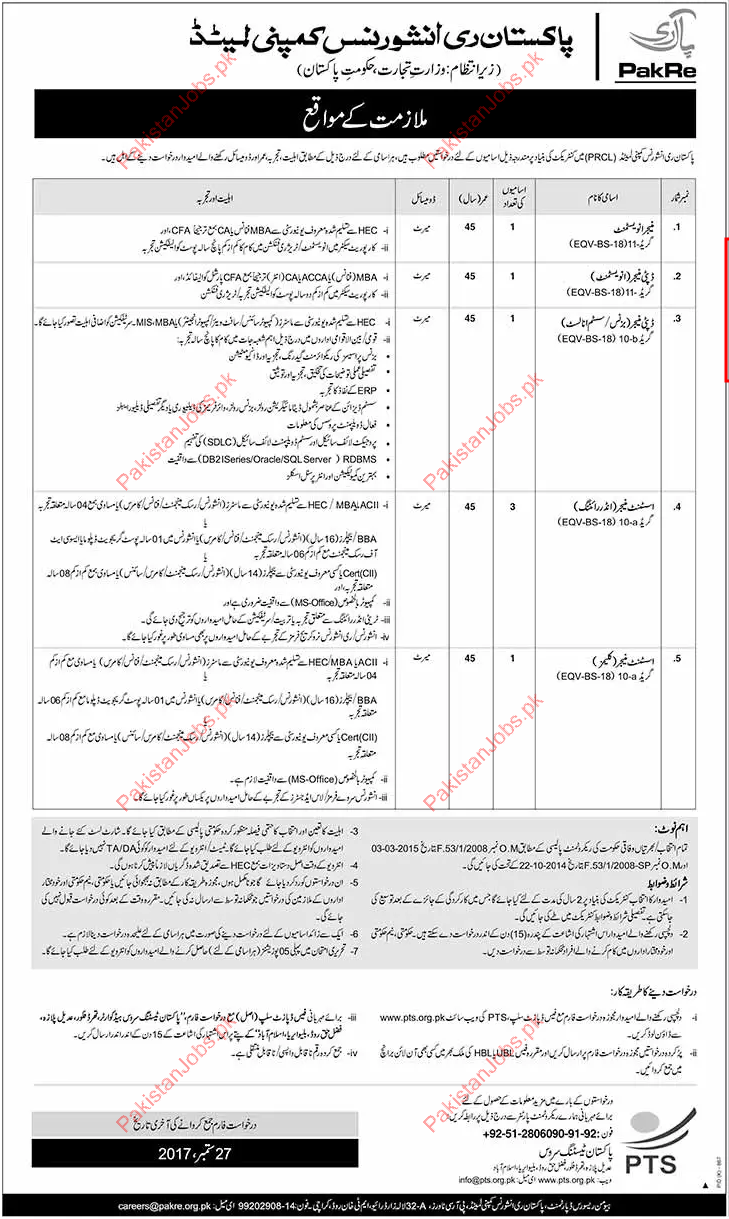 Manager Investement Required For Pakistan Insurance ...