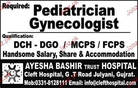 Pediatrician Gynecologists Job Opportunity