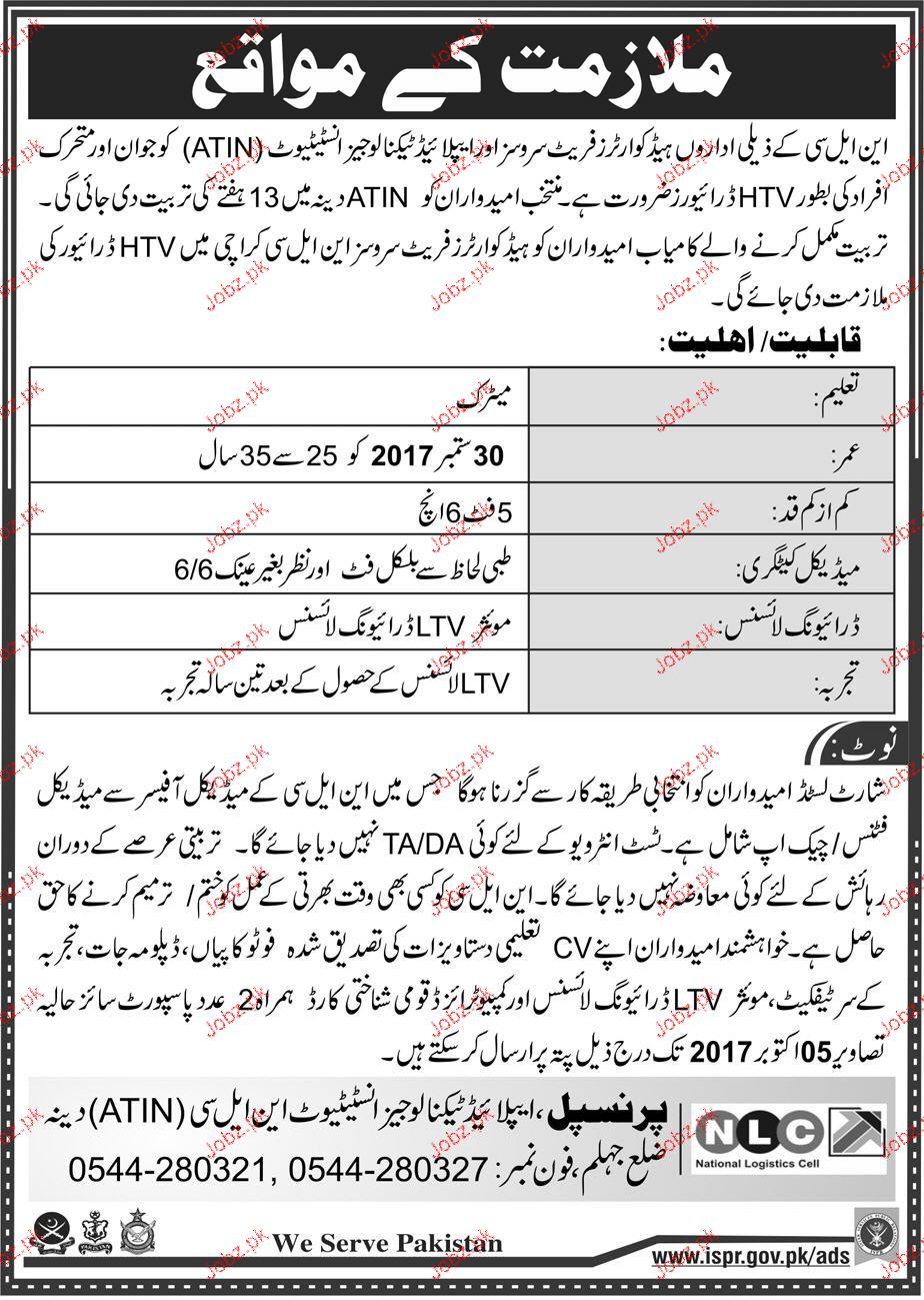 National Logistics Cell NLC  Jobs