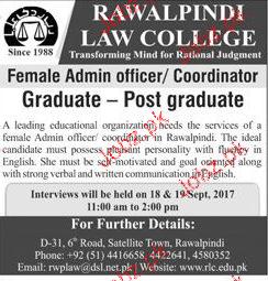 Rawalpindi Law College Jobs