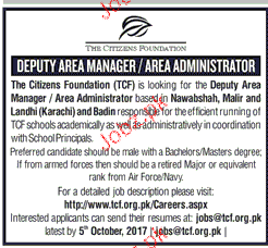 Deputy Area Managers and Area Administrators Wanted