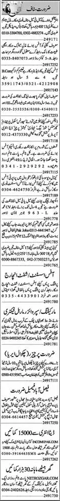 DEO, Office Assistant, Supervisor, Marketing Staff Jobs