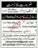 Computer Operators, Graphic Designers Job Opportunity