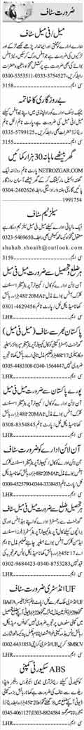 Marketing, Office Staff & Security Guard Jobs in Islamabad