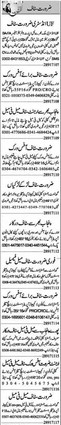 Computer Operator & Branch Manager Jobs in Lahore