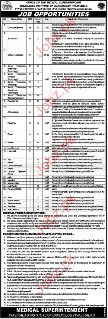 Computer Operator & Junior Clerks Jobs in Wazirabad