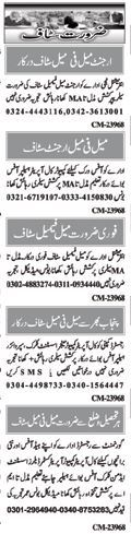 Male & Female Jobs Opportunity in Punjab