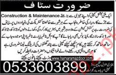 Construction & Maintenance Staff Jobs