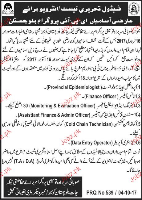 Health Department Govt of Balochistan  Jobs