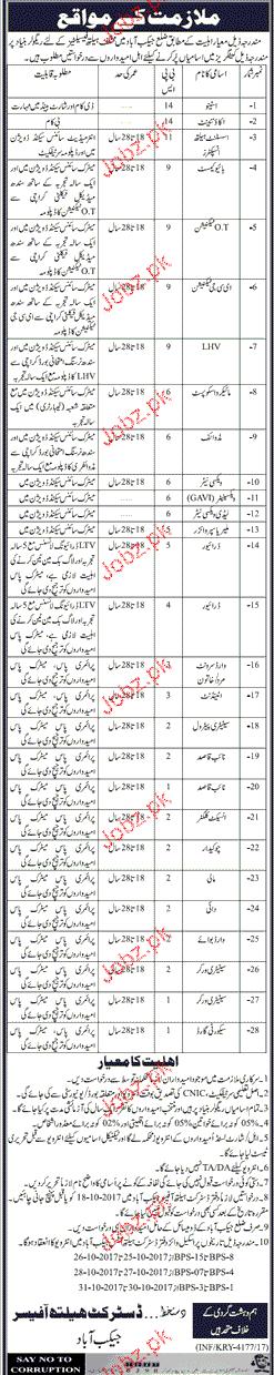 District Health Department Jobs