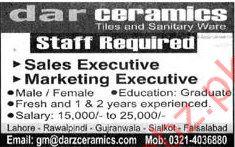 Sales Executive & Marketing Executive Jobs