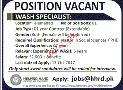 Wash Specialists Job Opportunity