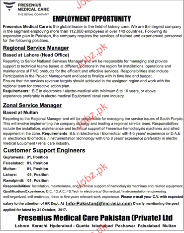 Regional Manager, Manager Client Services Wanted