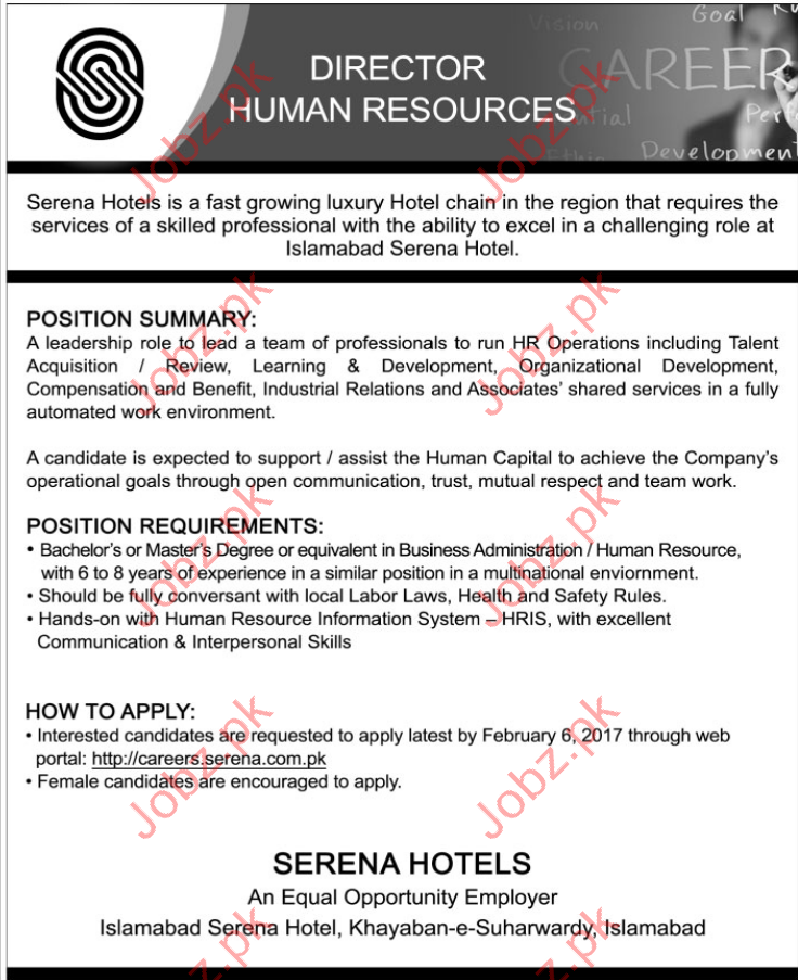 Director Human Resources Job Opportunity