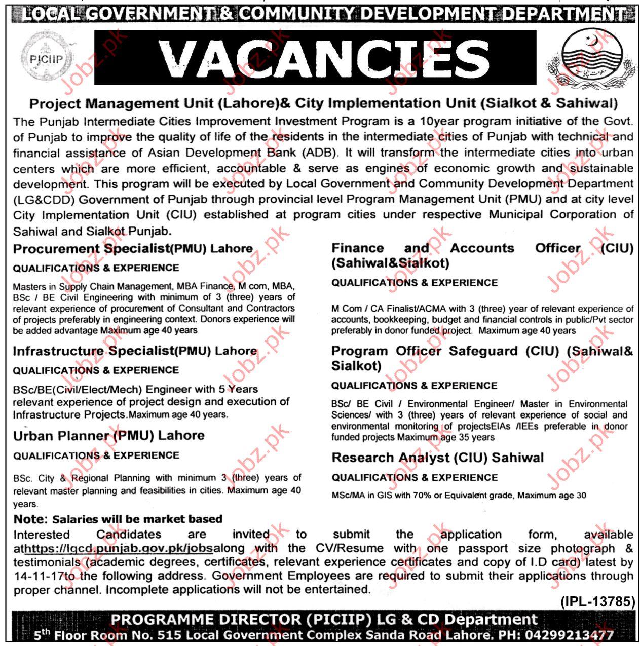 LGCD Jobs Local Govt & Community Development Department