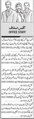 Office Staff wanted in Karachi 2017