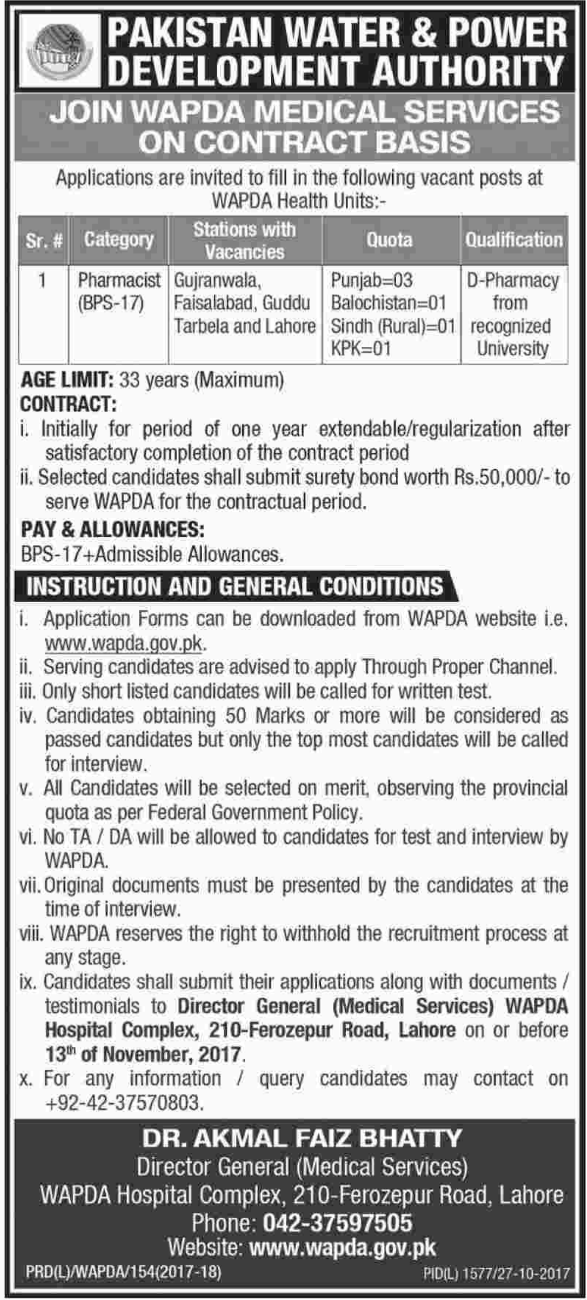 WAPDA Jobs Pakistan Water & Power Development Authority