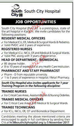 South City Hospital Jobs