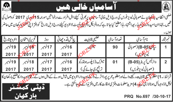 Recruitment in Leavy Force in BarKhan
