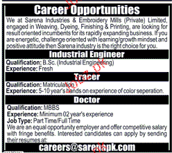 Sarena Industries and Embroidery Mills Private Limited Jobs