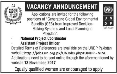 UNDP Jobs United Nation Development Program 2017