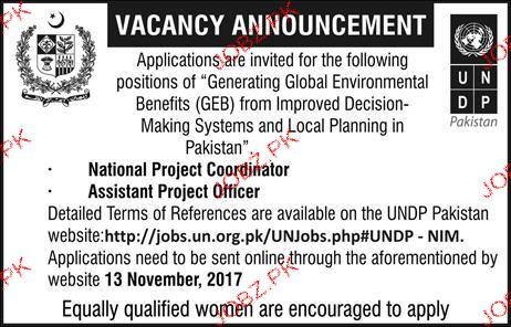 United Nation Development Program UNDP Jobs