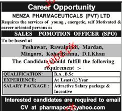 NENZA Pharmaceuticals Pvt Ltd Jobs