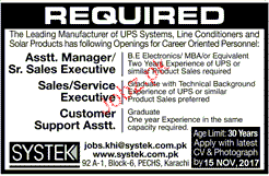 Assistant Manager / Senior Sales Executives Job Opportunity