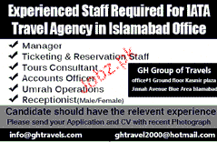 Manager, Ticketing & Reservation Staff Job Opportunity