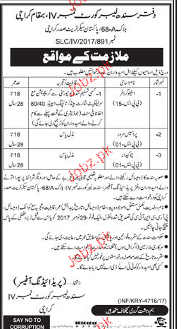 Sindh Labor Court Jobs