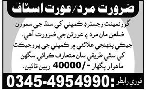Male & Female Staff required 2017