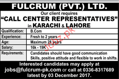 Call Center Representatives Job Opportunity