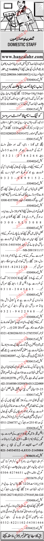 House Miad, Nurses, Chawkidars Job Opportunity