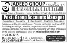 Group Accounts Manager Job Opportunity