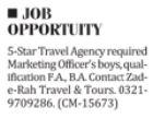 Marketing Staff Jobs in Islamabad 2017