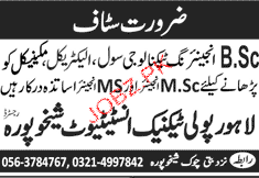 Msc Engineers and MS Engineers Job Opportunity